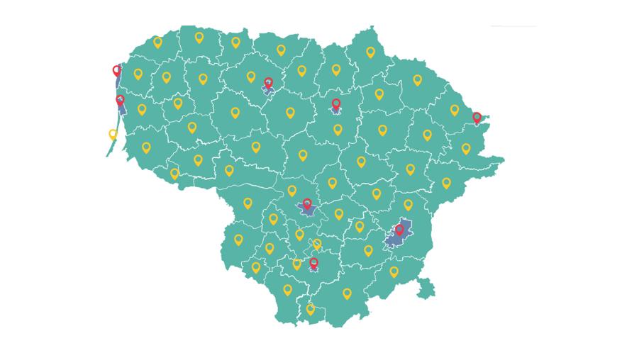 Moterų ir vyrų užimtumo žemėlapis