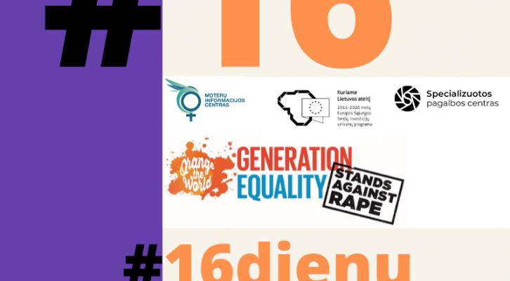Tarptautinė kampanija - 16 dienų prieš smurtą prieš moteris